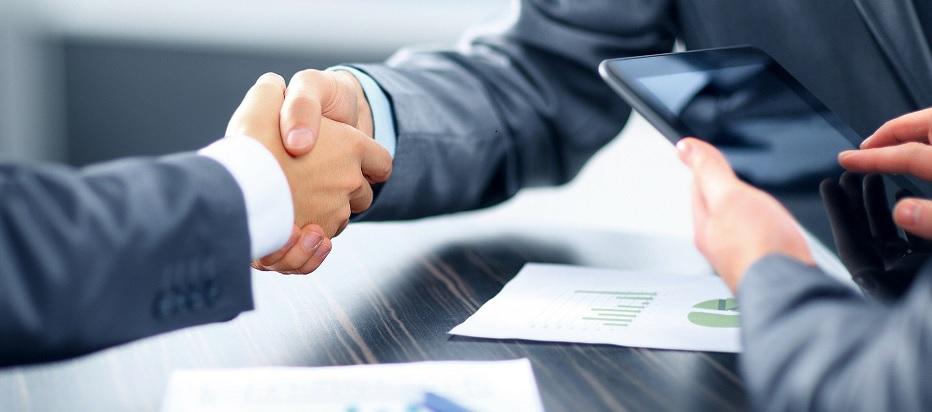 Männer Handshake Abschluss Finance